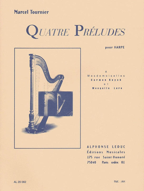 4 PRELUDES OP 16 HARP SOLO