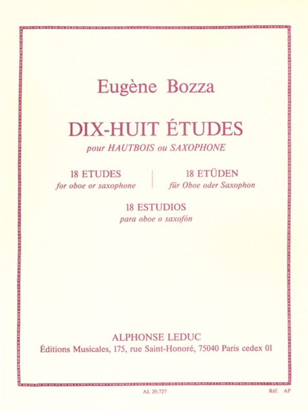 18 ETUDES FOR OBOE