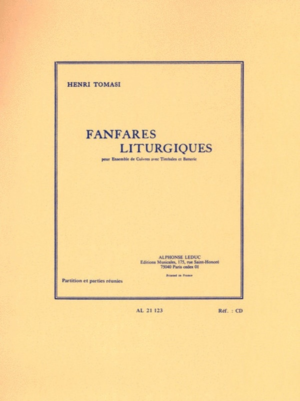 FANFARES LITURGIQUES FOR BRASS ENSEMBLE