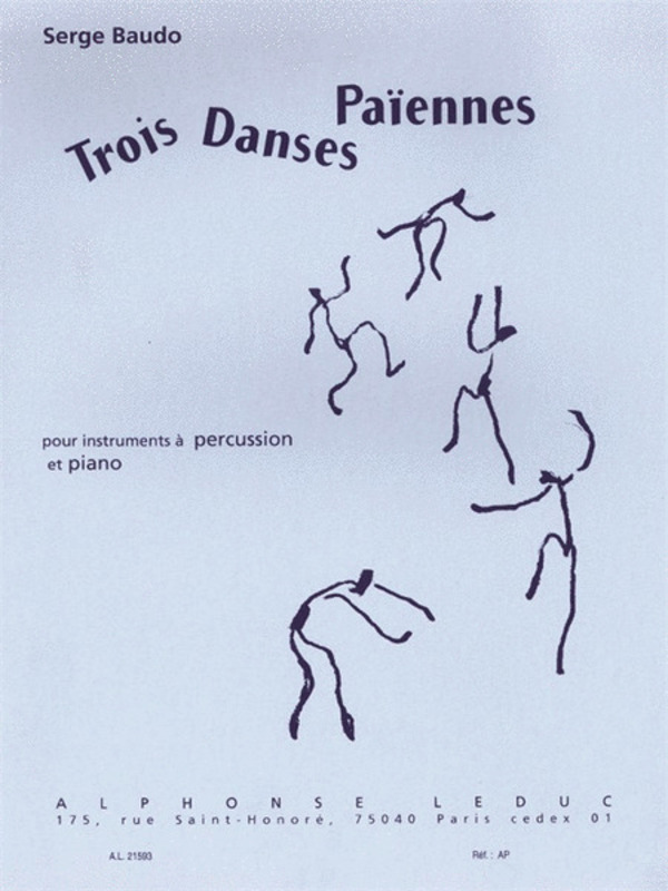 3 Dances Paiennes Percussion/piano