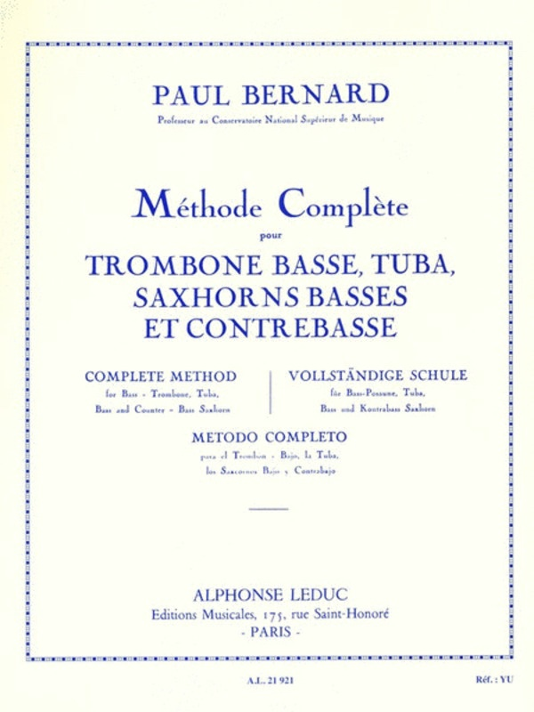 COMPLETE METHOD FOR BASS TROMBONE