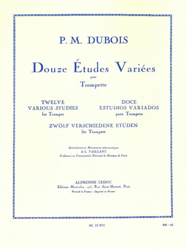 DOUZE ETUDES VARIEES FOR TRUMPET