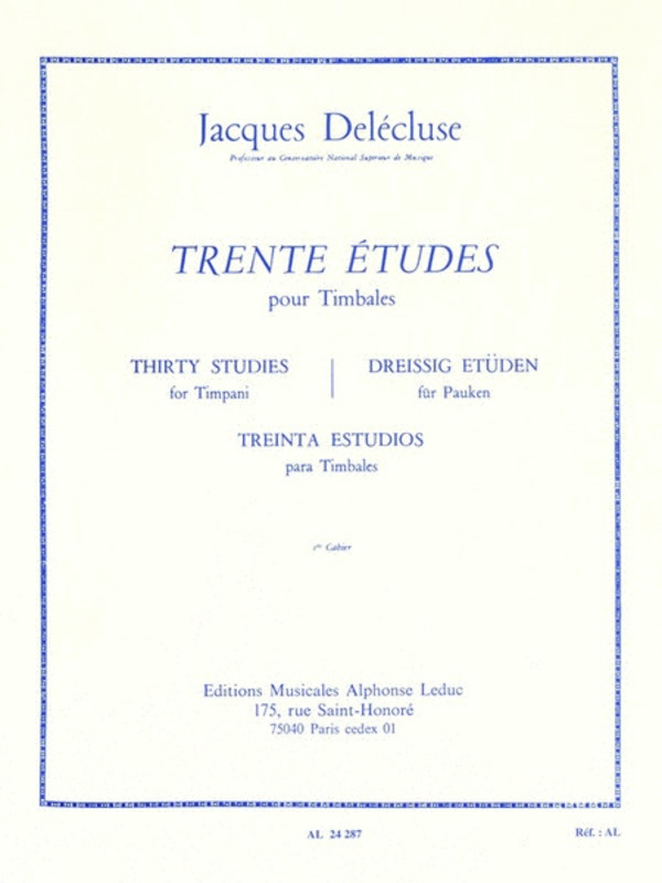 30 Studies For Timpani Volume 1