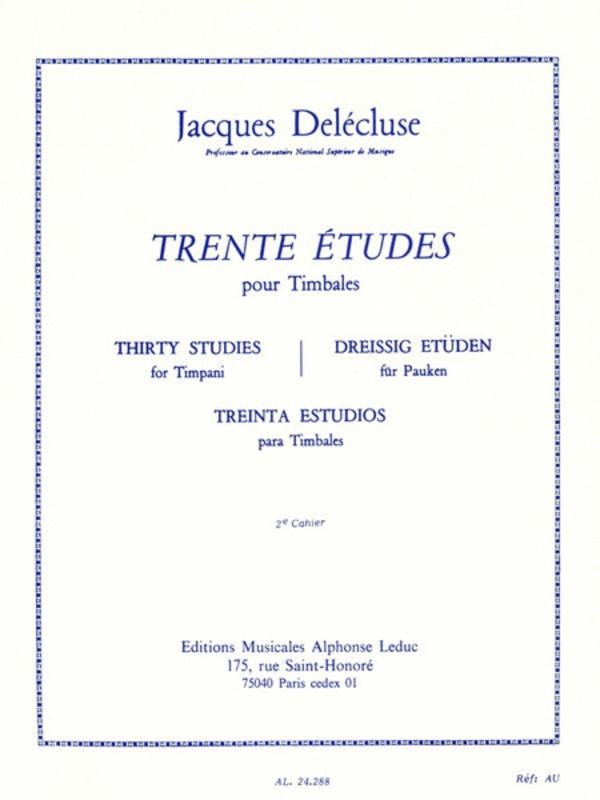 30 STUDIES FOR TIMPANI VOLUME 2