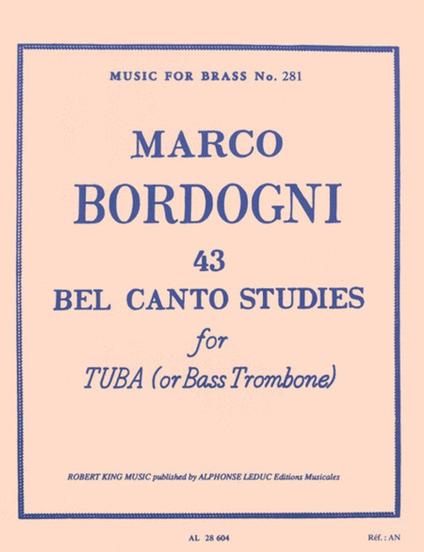 43 BELCANTO STUDIES BASS TOMBONE