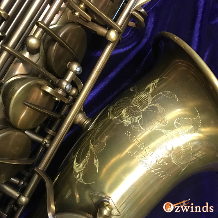 Schagerl Model 66 Alto Saxophone (Vintage finish)