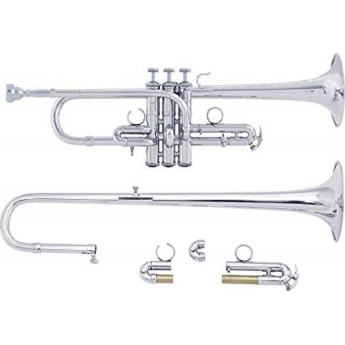Bach Artisan Combination D/Eb Trumpet (Silver Finish)