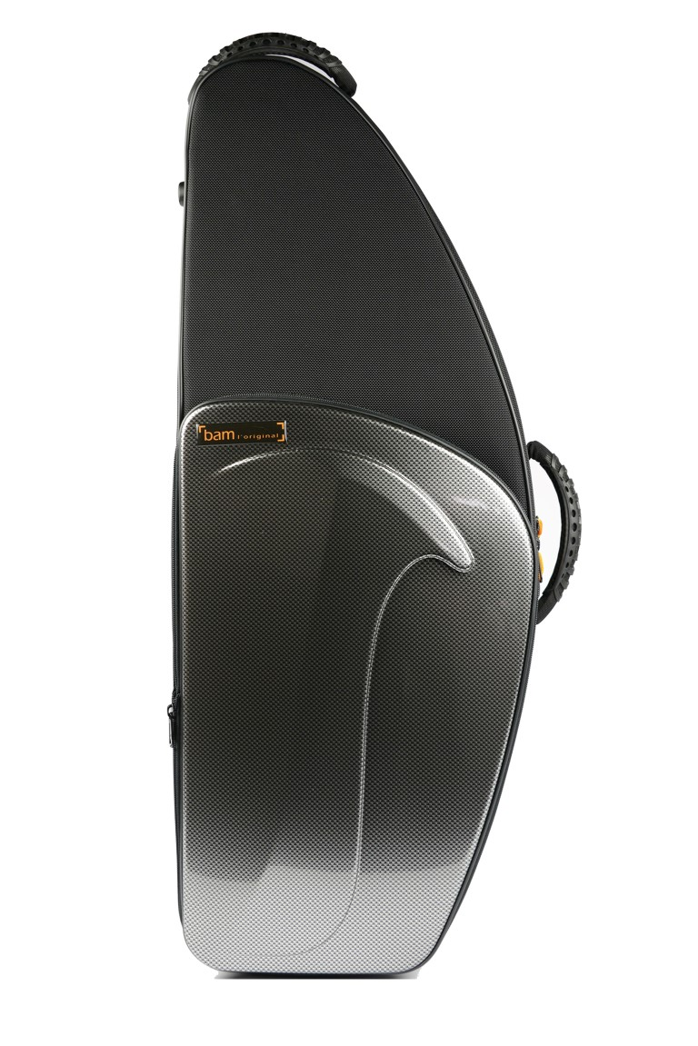 hightech tenor sax case by bam france in black carbon silver carbon or brushed aluminium at ozwinds. Black Bedroom Furniture Sets. Home Design Ideas
