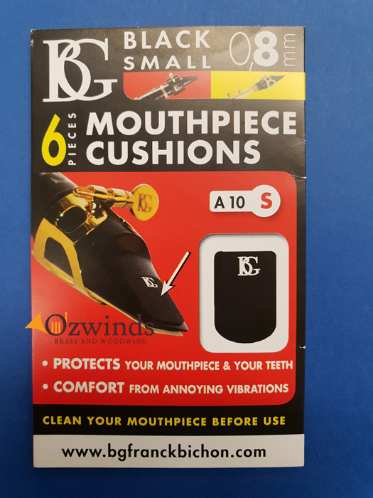 BG Mouthpiece Patches, Small, Black 0.8 mm - A10S