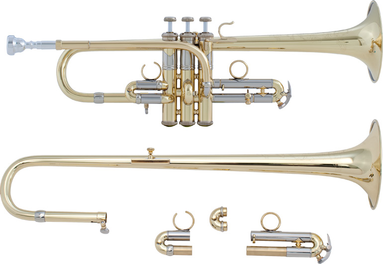 Bach Artisan Combination D/Eb Trumpet (Lacquer Finish)