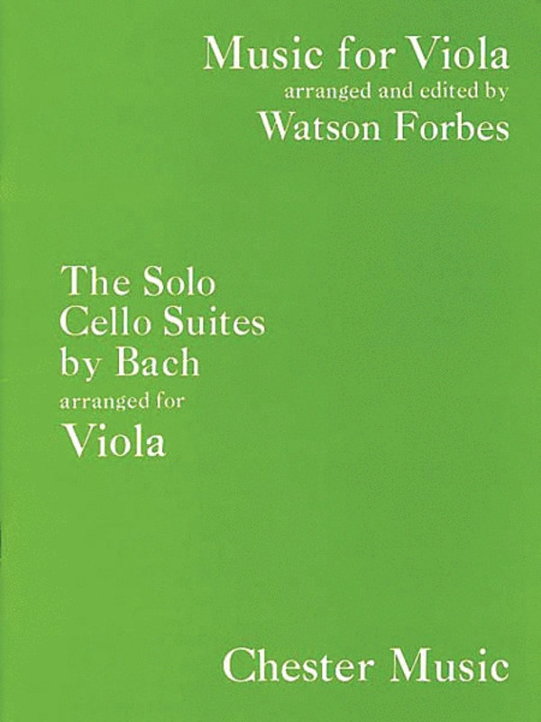 BACH CELLO SUITES ARR. FOR VIOLA
