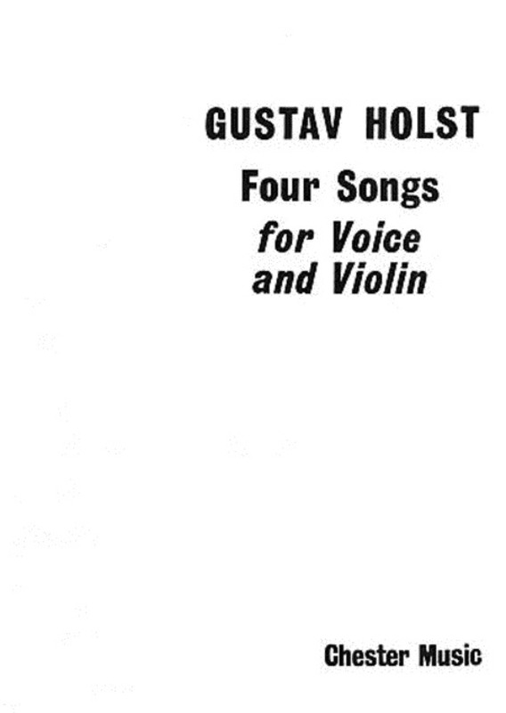 HOLST 4 SONGS HIGH VOICE & VIOLIN