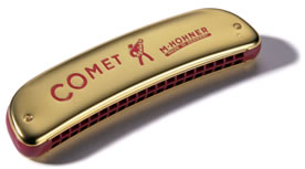 Hohner Comet Octave Tuned Harmonica - 20 Double Hole (40)