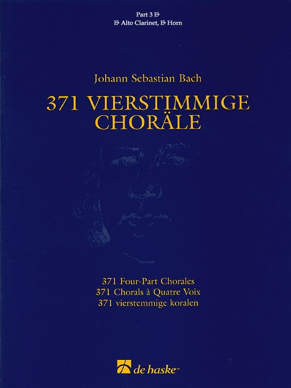 371 FOUR PART CHORALES PART 3 E FLAT TREBLE CLEF