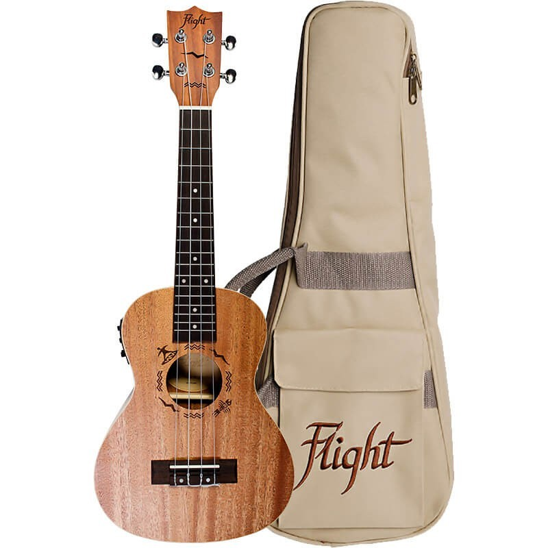 FLIGHT DUC323 CONCERT ELECTRO ACOUSTIC UKE W/BAG
