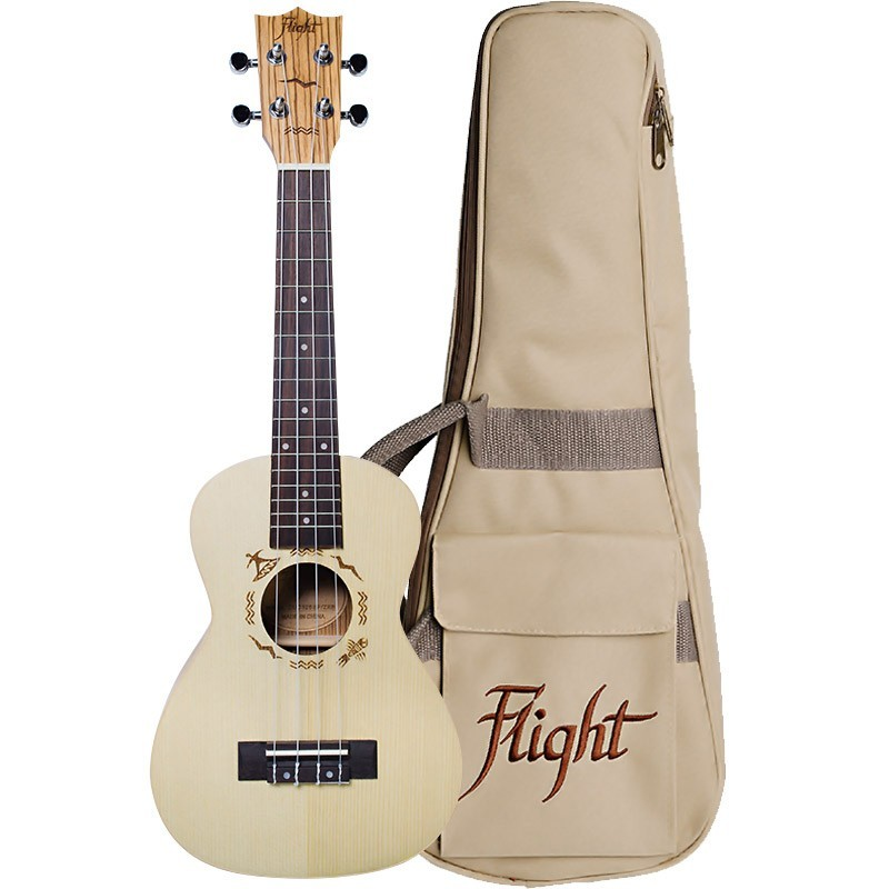 FLIGHT DUC325 CONCERT UKE SPUCE/ZEB W/BAG