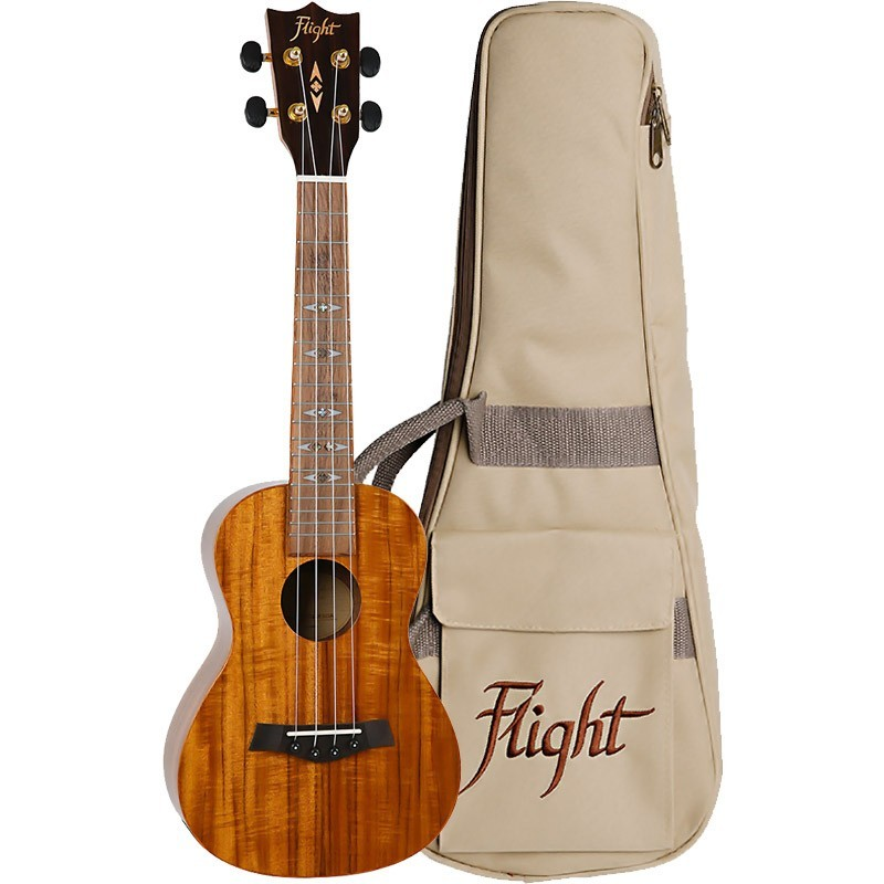 FLIGHT DUC445 CONCERT KOA UKE GLOSS FINISH W/BAG