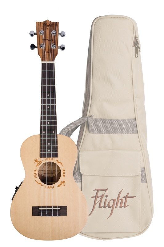 FLIGHT DUC525CEQ SP/ZEB ELECTRO ACOUSTIC CONCERT UKE