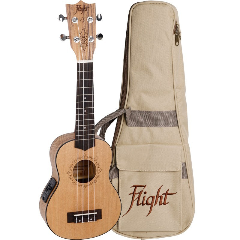 FLIGHT DUS320 SOPRANO ELECTRO ACOUSTIC UKE W/BAG