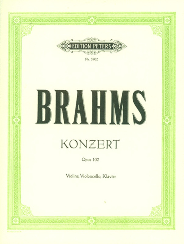 BRAHMS - CONCERTO A MIN OP 102 VIOLIN/CELLO/PIANO