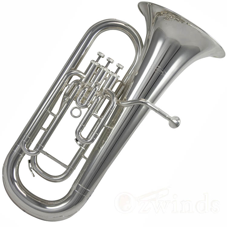 Schagerl 3-Valve Euphonium - Silver Plated Finish