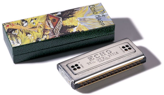 Hohner Tremolo Double-Sided Echo Harmonica - 2 x 32