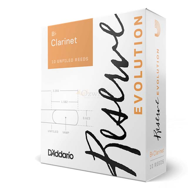 D'Addario Reserve Evolution Reeds B-Flat Clarinet (Box of 10)