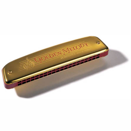 Hohner Golden Melody harmonica, Curved Ends