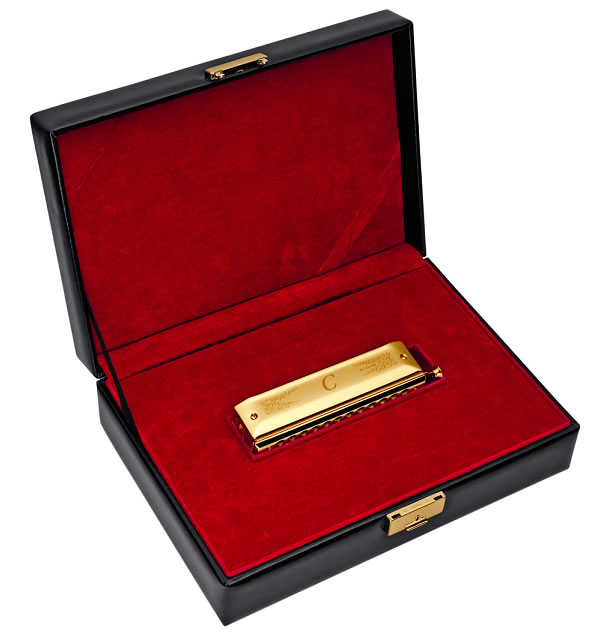Hohner Special Limited Edition Gold-Plated Chromatic Harmonica