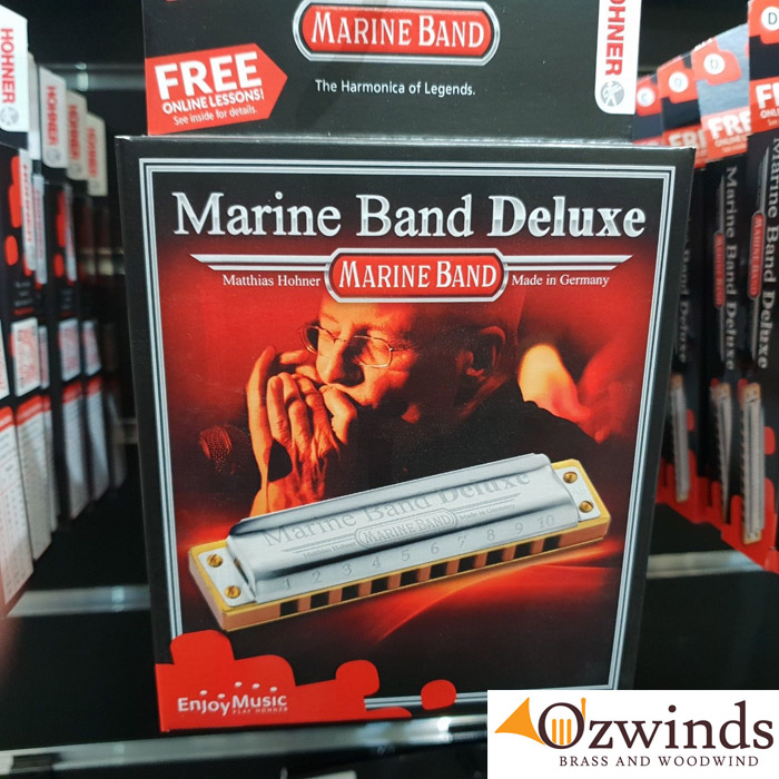 Hohner Marine Band Deluxe Harmonica - Free Post.