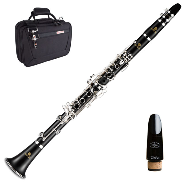 Jupiter JCL-750N Clarinet with Protec Case and Debut M/Piece.