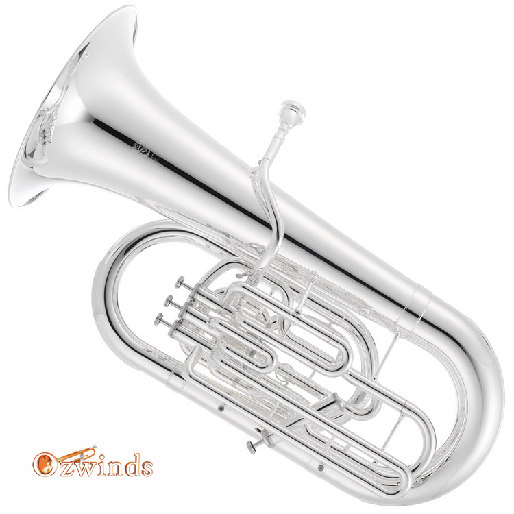Jupter JTU-1020S E-flat Tuba 3 +1 Valve, Silver Plated Finish