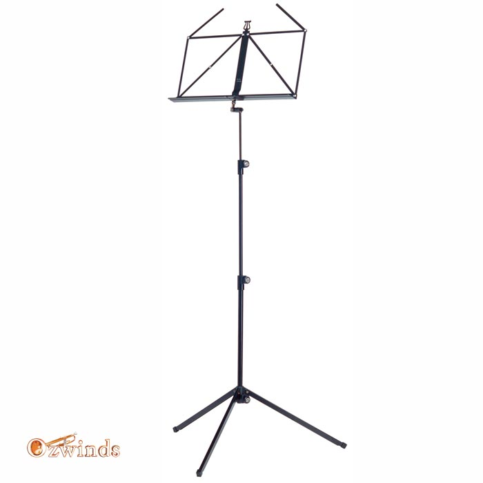 K&M 100/1 Folding Music Stand - Black