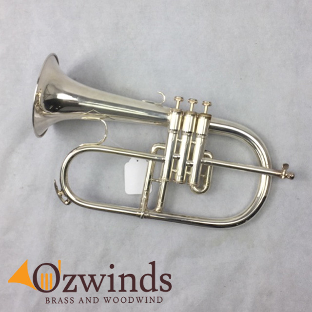 King 650 Professional Flugelhorn Silver Plate (NOW SOLD) #839091