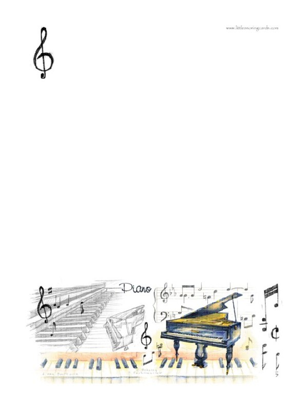 A5 WRITING PAD PIANO