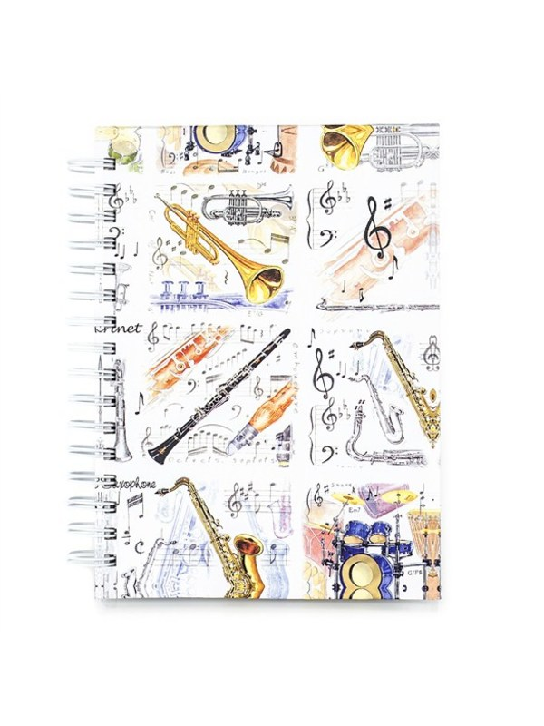 A6 HARDBACK SPIRAL NOTEBOOK MUSIC INST
