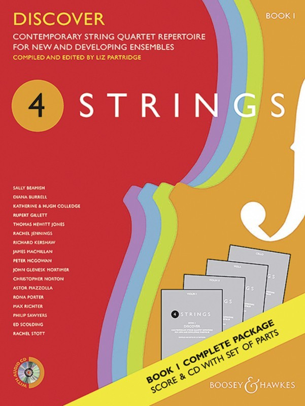 4 STRINGS - DISCOVER BK 1 STRING QUARTET SC/PTS/CD