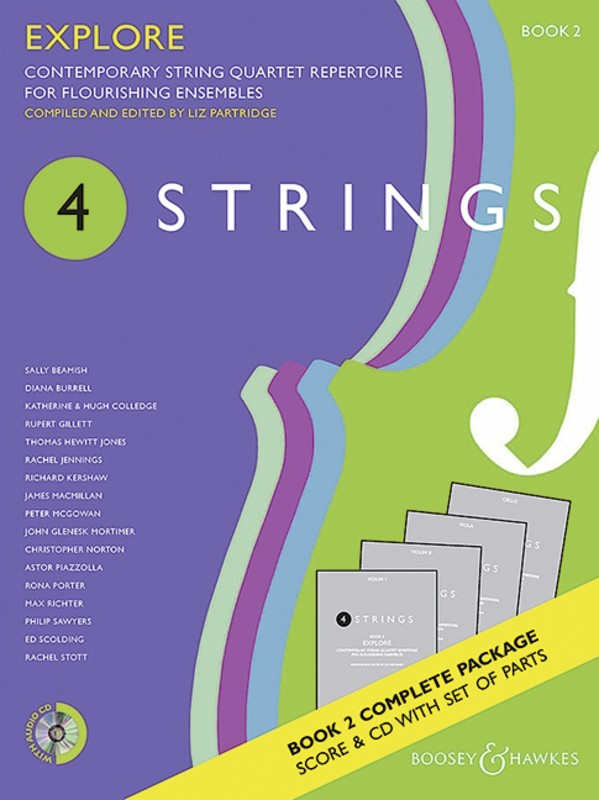 4 STRINGS - EXPLORE BK 2 STRING QUARTET SC/PTS/CD