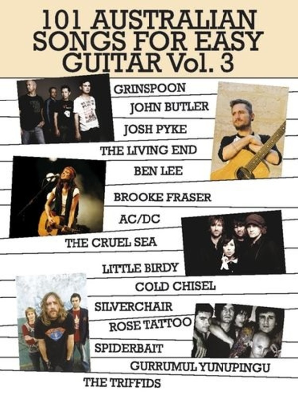 101 AUSTRALIAN SONGS FOR EASY GUITAR VOL 3