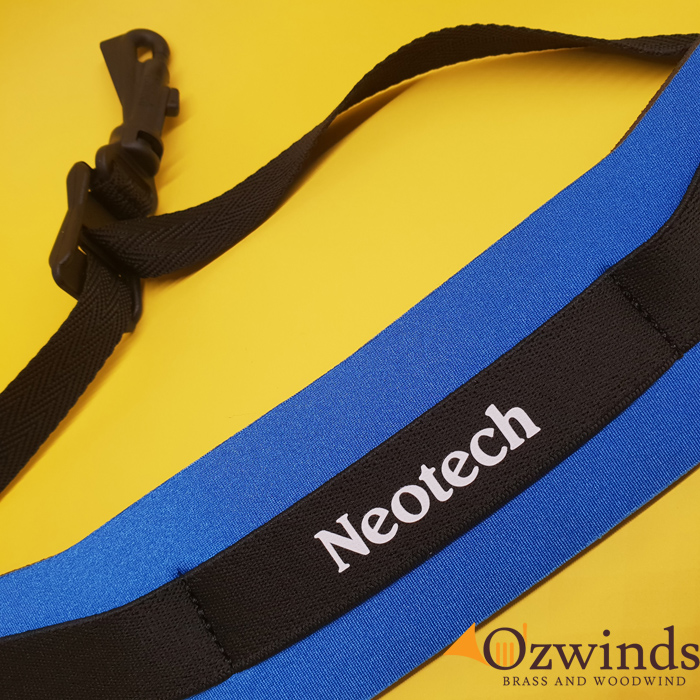 Neotech Royal Blue Soft Sax Strap Regular Size with Swivel Hook