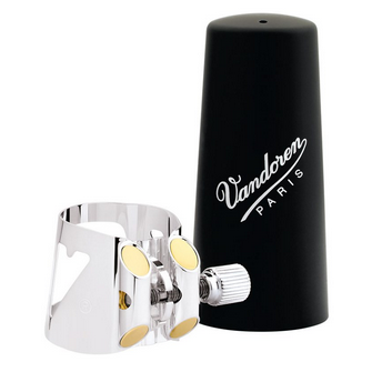Vandoren Optimum Ligature and Plastic Cap for Alto Clarinet