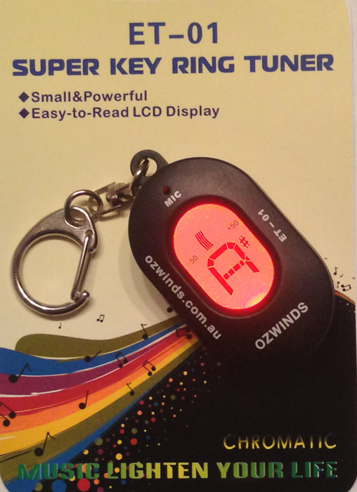 Ozwinds Super Key Ring Chromatic Tuner