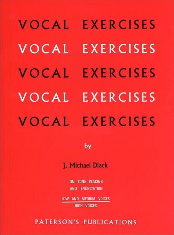 DIACK VOCAL EXERCISES LOW & MED VOICE