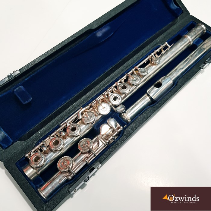 Sankyo Silversonic C-foot flute with Solid Silver Headjoint and Body #82656 *Now sold*