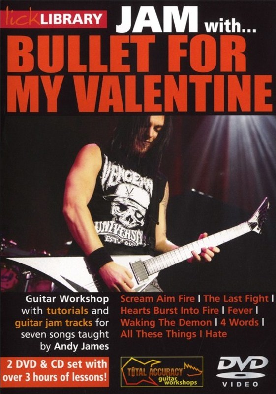 JAM WITH BULLET FOR MY VALENTINE 2 DVDS/CD