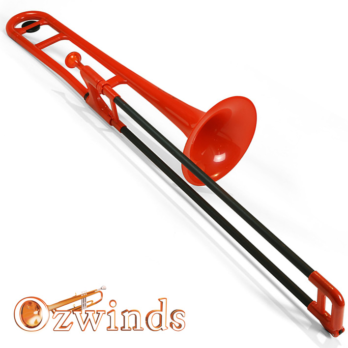 pBone Trombone (Red) with carry bag