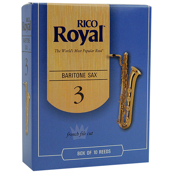 Rico Royal Baritone Sax Reeds by D'Addario (Box of 10)