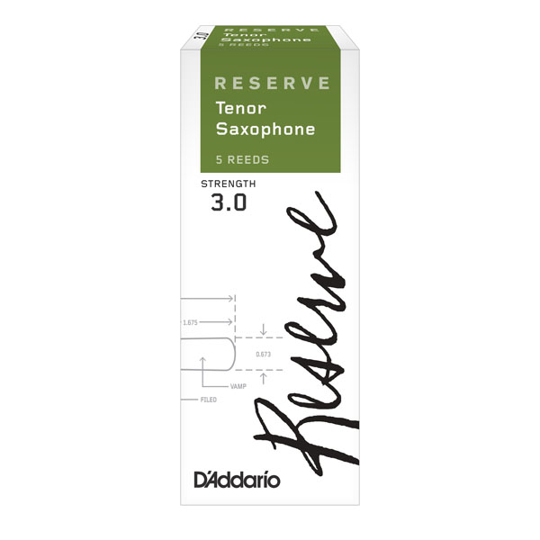 D'Addario Reserve Tenor Saxophone (Box of 5)