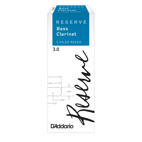 Reserve Bass Clarinet Reeds by D'Addario (Box of 5)