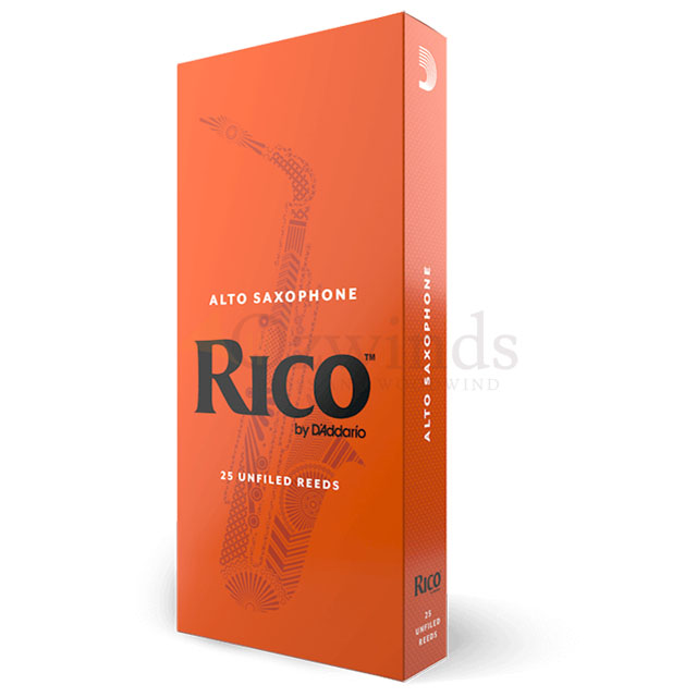 Rico Alto Saxophone Reeds by D'Addario (Box of 25)